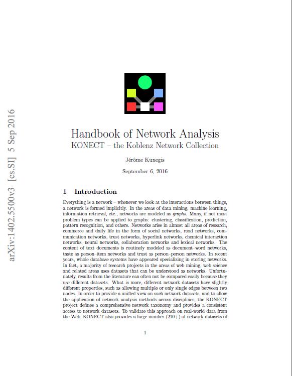 Handbook of Network Analysis