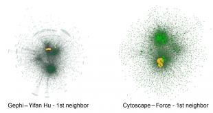 مقایسه Gephi با Cytoscape