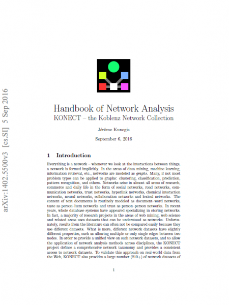 Handbook of Network Analysis