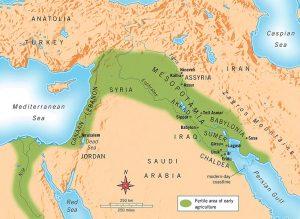 نقشه اور، بین النهرین قدیم و کنعان