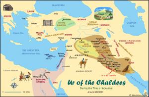 نقشه بین النهرین قدیم و کنعان